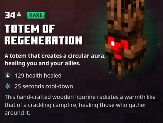 Minecraft Dungeons Totem Of Regeneration