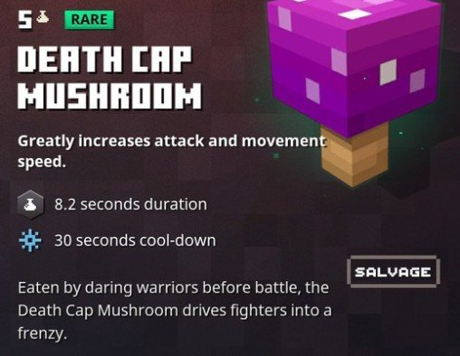 Minecraft Dungeons Death Cap Mushroom