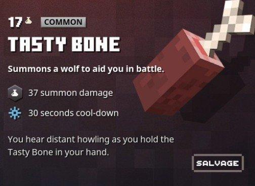 Minecraft Dungeons Tasty Bone