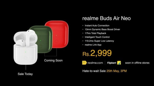 Realme launches Buds Q, Buds Air Neo and two power banks