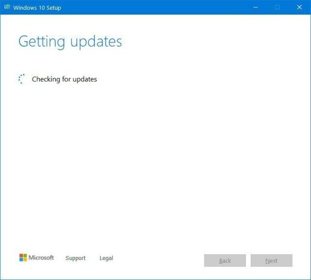 Media Creation Tool stuck downloading updates