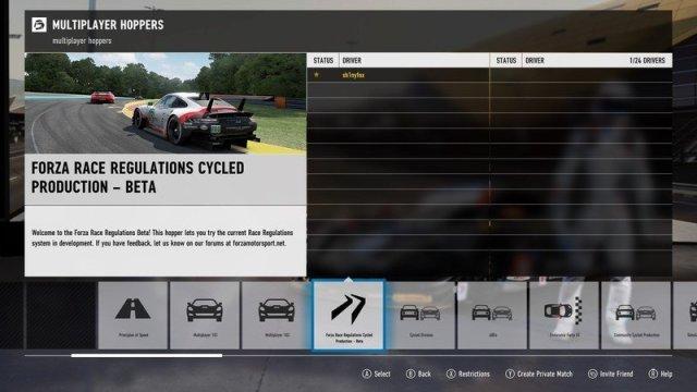 Forza Race Regulations