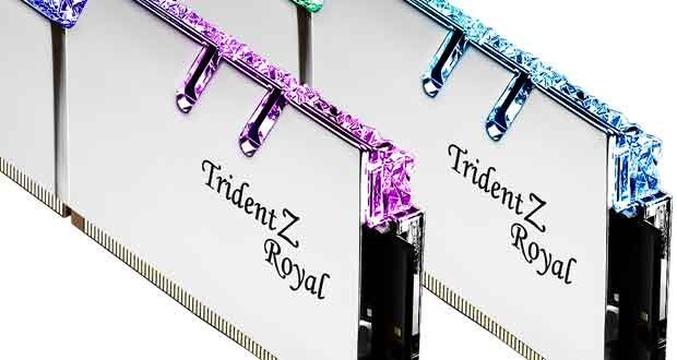 Mémoire DDR4 Trident Z Royal de G.Skill