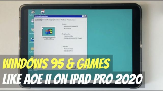 windows 95 ipad pro 2020