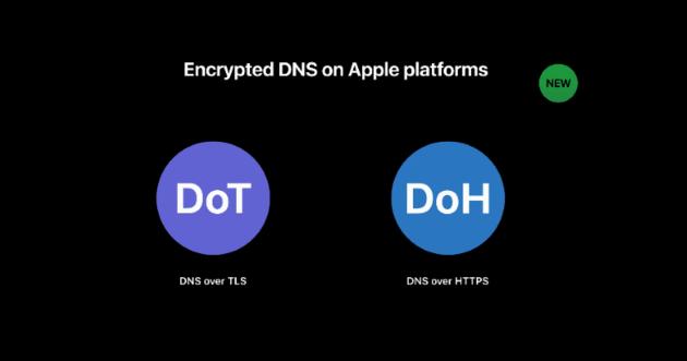 Apple ajoute la prise en charge du DNS chiffré (DoH et DoT)