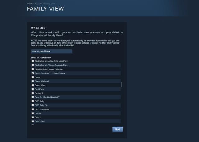 Steam Family View Setup