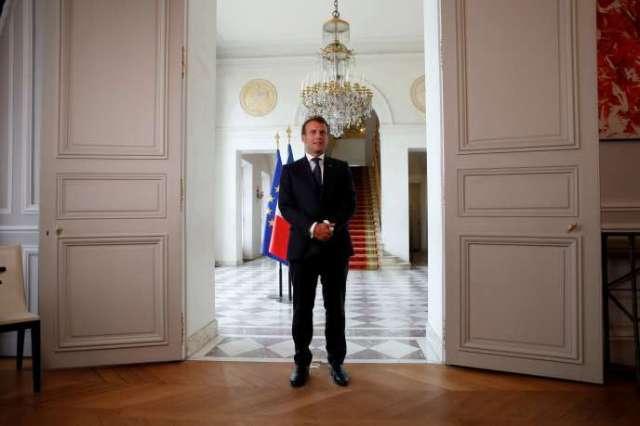 Emmanuel Macron, à l'Elysée, le 4 mai.