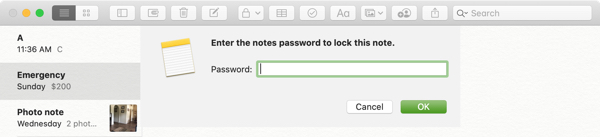 Lock Note-Mac
