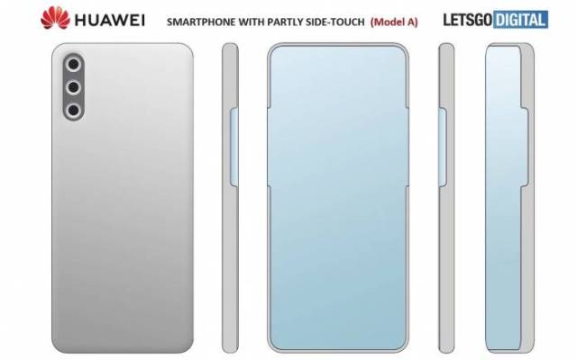 Huawei side touch phone image