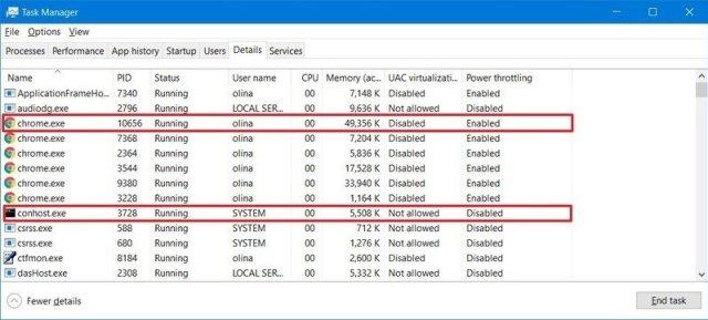 Windows 10 Power Throttling Working
