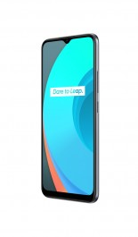 Realme C11 in grey and green