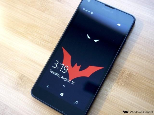 Microsoft Lumia 640 with Batman Beyond wallpaper