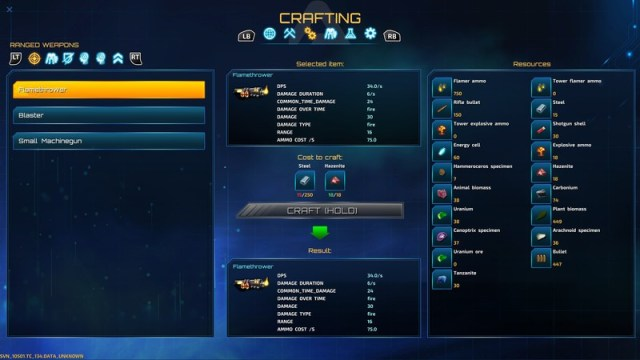 Riftbreaker Upgrade Menu