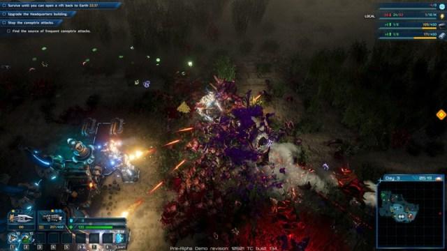 Riftbreaker Nighttime Combat