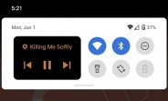 Android 11 Beta 1 features music controls in the notification shade, new icon shapes