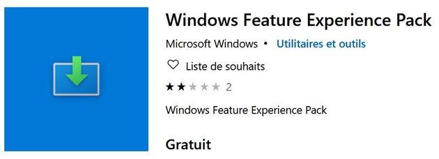 Windows10: que représente le pack Windows Feature Experience?