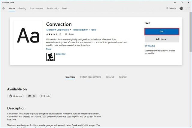 Windows 10 install fonts