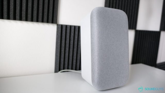 The Google Home Max can be positioned upright.
