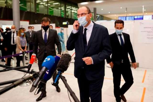 Le premier ministre Jean Castex à l'aéroport de Roissy, en région parisienne, le 24 juillet.