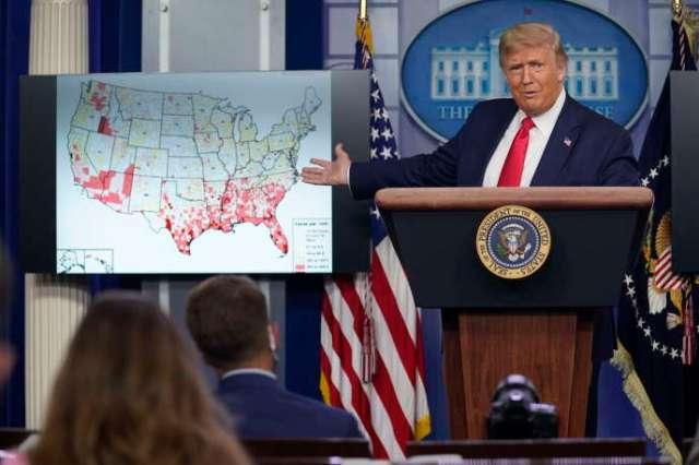 Donald Trump,lors d'une conférence organisée à la Maison Blanche, à Washington, le 23juillet.