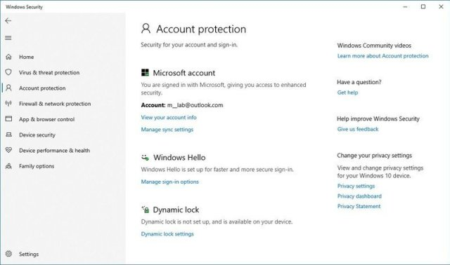 Windows Security Account Protection