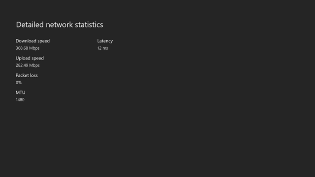 Xbox One Network Stats