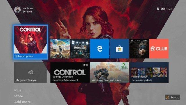 Xbox One February 2020 Home Menu