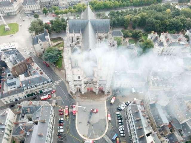 Un incendie s'est déclaré dans la cathédrale de Nantes, le 18 juillet.