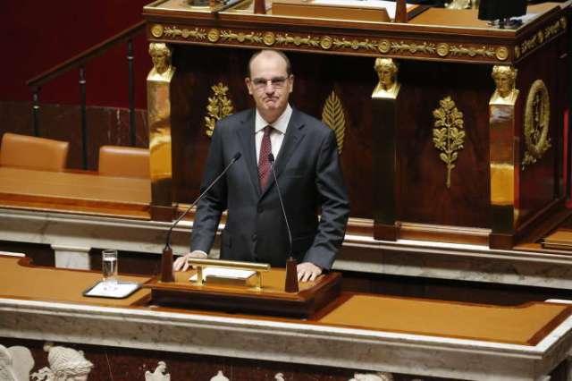 Le premier ministre, Jean Castex, devant les députés mercredi 15 juillet.
