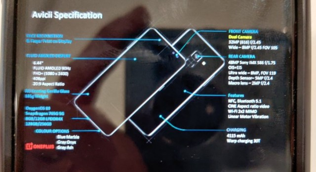 OnePlus Nord full specs surface: 6.44'' 90Hz display and 4,115 mAh battery