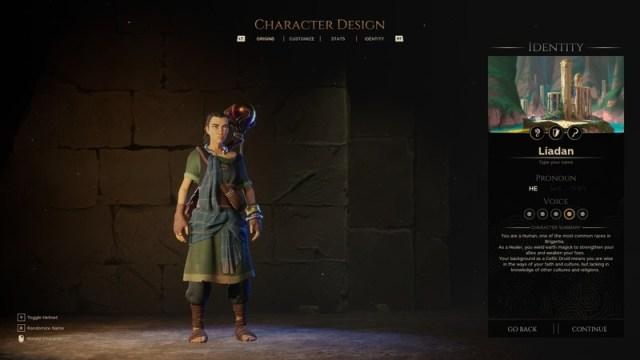 Waylanders Character Creation