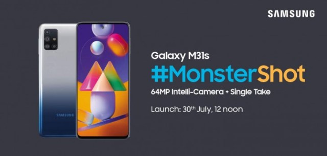Samsung Galaxy M31s will go official in India on July 30