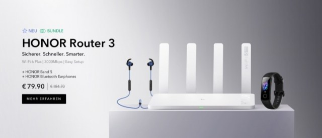 Honor Router 3 arrives with Wi-Fi 6 support and up to 3000 Mbps speeds