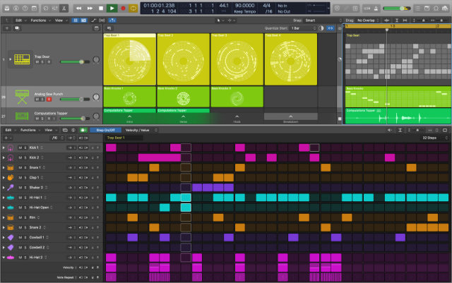 Step Sequencer in Logic Pro X