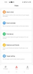 Amazfit Bip S data and settings in Amazfit's Android app