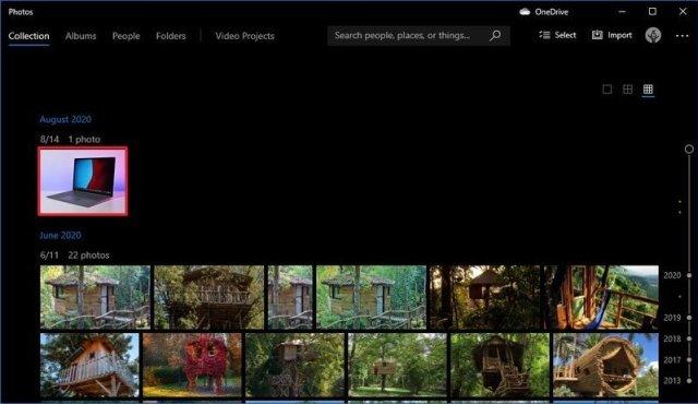 Photos app select image