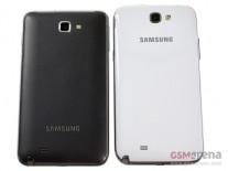 Samsung Galaxy Note II next to the original Note
