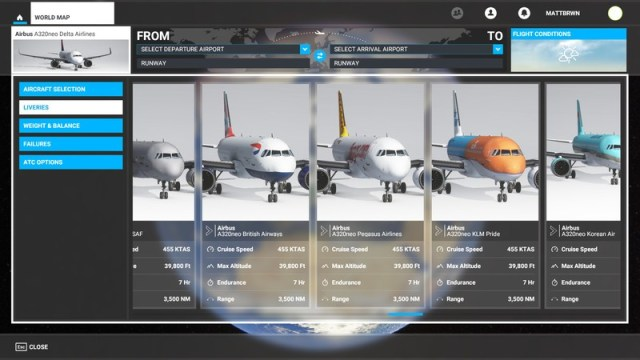 Microsoft Flight Simulator Liveries