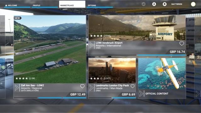 Microsoft Flight Simulator Marketplace