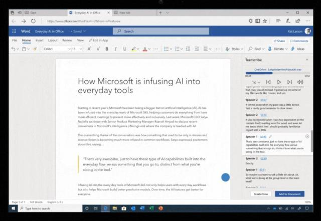 Microsoft365: Word retranscrit vos paroles