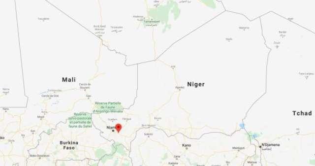 Carte de localisation de la zone de Kouré où s'est produite l'attaque, dimanche 9 août.