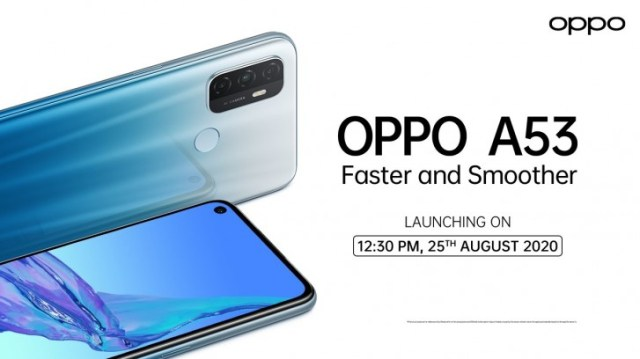 Oppo A53 is officially launching on August 25
