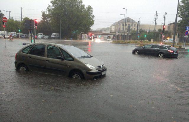 Le secteur de la gare de Caen a notamment été inondé, mercredi 12 août 2020 dans la soirée.