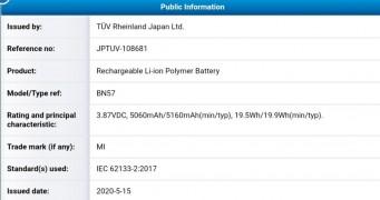 5,160 mAh battery