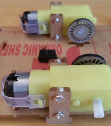 Raspberry Pi Robot Kit Motor Attached