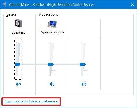 Volume Mixer with new audio option