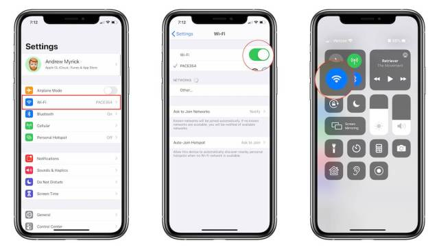Toggle Wi-Fi On and Off from iPhone 11 Pro