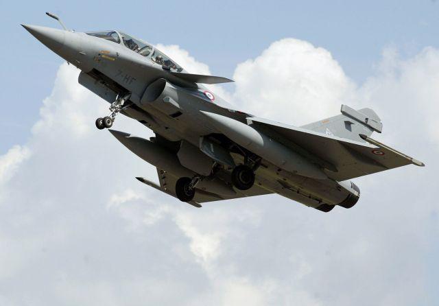 Un chasseur Rafale de l'armée de l'air française. (photo