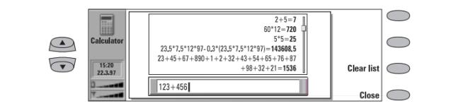 The calculator was pretty neat, though