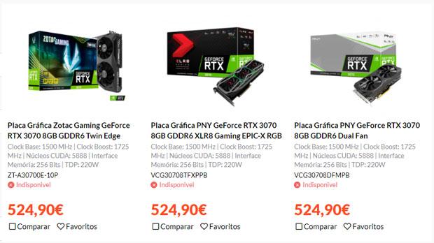 """GeForce RTX 3070 """"personnalisée"""" - Prix"""